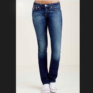 True Religion slim straight jeans - sz 28